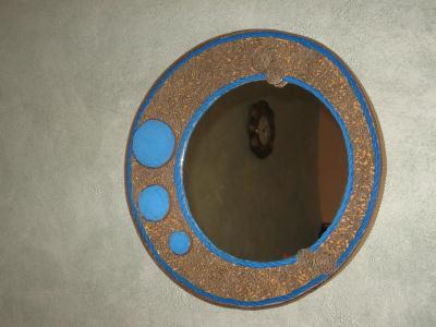 Miroir en carton sph rique avec pois bleus cr ations for Miroir spherique