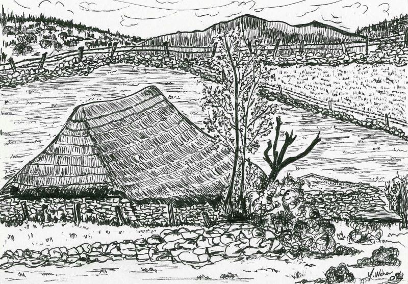 paysage noir et blanc r alis aux crayons cr ations beaux arts dessin de sydneyfolie n 33000. Black Bedroom Furniture Sets. Home Design Ideas