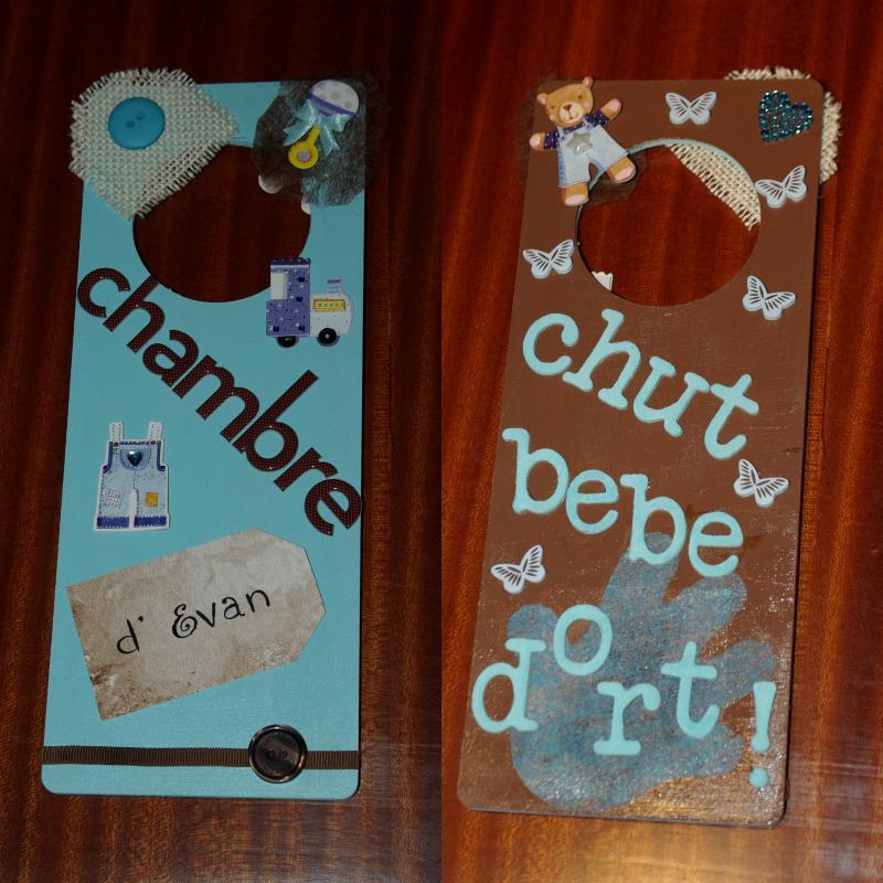 Plaque de porte chambre d 39 evan et chut b b dort for Chut bebe dort pancarte