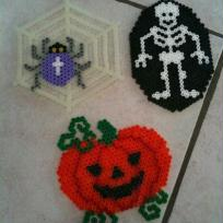 Halloween nous voil, crations en perles Hama