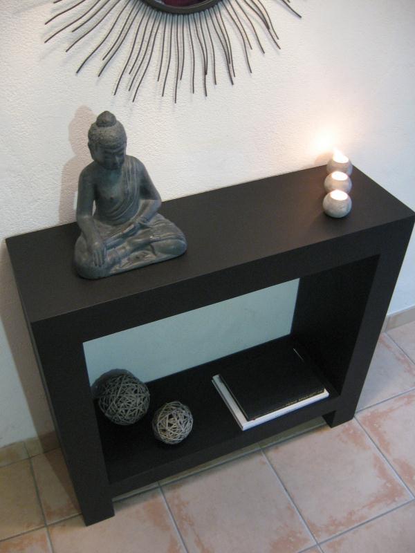 table console noire en carton cr ations meuble en carton de n 33501 vue. Black Bedroom Furniture Sets. Home Design Ideas
