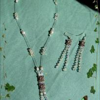 Parure Crystal snake' tongue