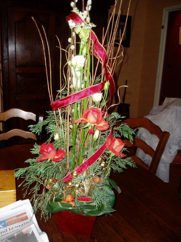 bouquet de noel cr ations art floral de nina n 3409 vue 5106 fois. Black Bedroom Furniture Sets. Home Design Ideas