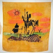 Foulard orange Don Quichotte