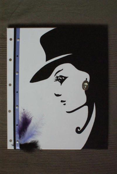 La femme et son chapeau noir et blanc cr ations home - Tableau noir et blanc avec touche de couleur ...