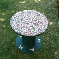 table basse sur support touret