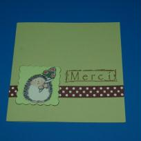 Carte verte Merci hérisson Penny Black