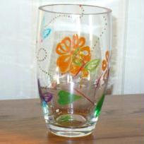 envole de papillons sur verre