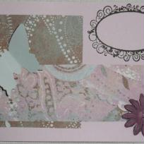 Carte papillon n°1 rose et marron
