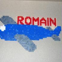 AVION bleu de ROMAIN