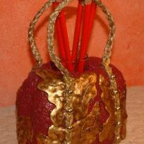 Petit sac rouge clout rouge et or