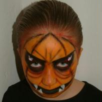 Halloween, mchante citrouille orange
