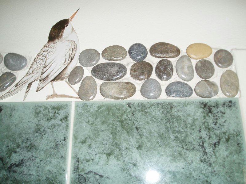 Frise en galet pour salle de bain cr ations mosa que de valeacrea n 3819 v - Frise adhesive salle de bain ...