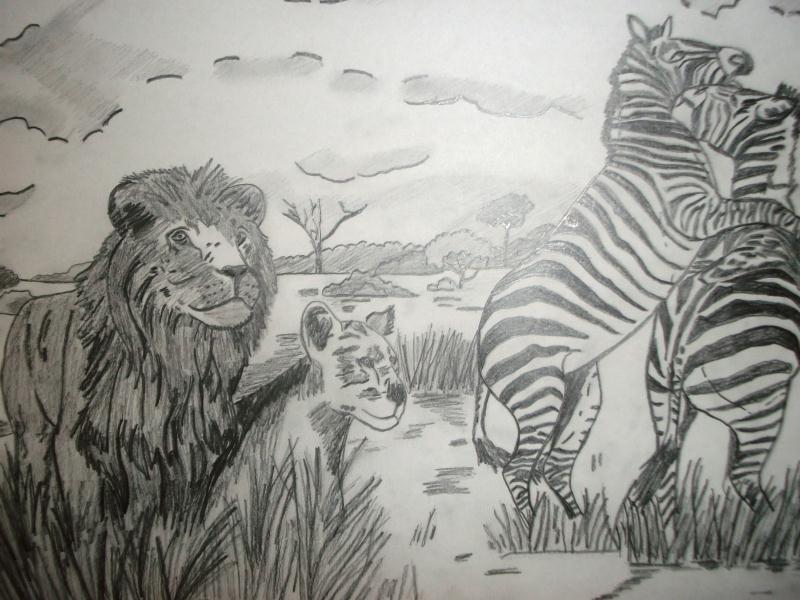 Les animaux de la savane cr ations beaux arts dessin - La savane dessin ...