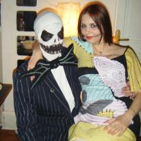 Deguiss en  Jack et Sally de Tim Burton