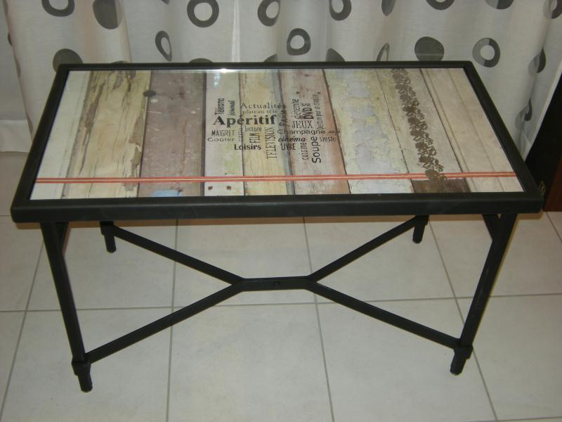 Customiser une table basse en verre - Customiser une table en bois ...