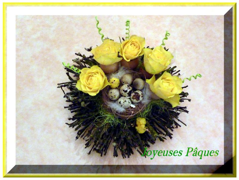 arrangement de p ques 2011 cr ations art floral de anniegau35 n 40452 vue 2591 fois. Black Bedroom Furniture Sets. Home Design Ideas