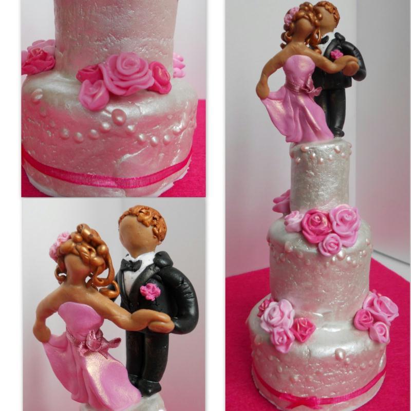 Gâteau de mariage pour les poupées - Créations Modelage de Paucile ...