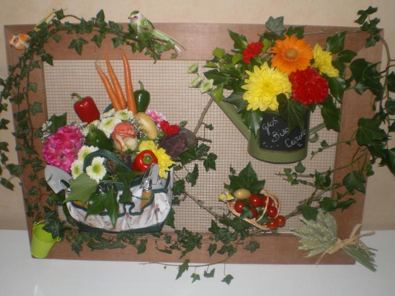 Cadre grillag sur le theme du jardin et des legumes for Art jardin creation