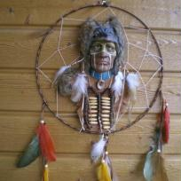 Indien loup_dream catcher ou attrape rêve