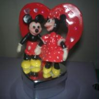 Mickey et Minnie en porcelaine froide