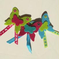 Broches papillon en feutrine