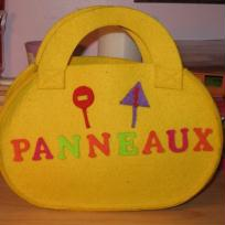 Sac en feutrine pour ranger des petits panneaux