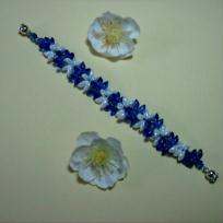 Bracelet   bleu et blanc 