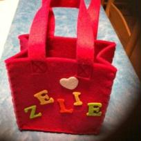 petit sac rose en feutrine  ZELIE (photo 1)