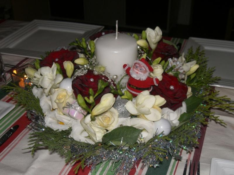 Un centre de table pour noel 2011 cr ations art floral - Centre de table pour noel ...