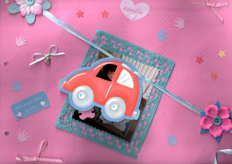 album photo naissance fille scrapbooking voiture cr ations scrapbooking de maeva9457 n 43905. Black Bedroom Furniture Sets. Home Design Ideas