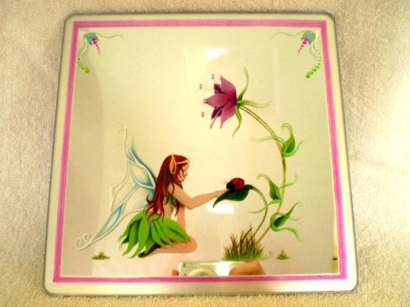 peinture sur miroir pour enfant elfe cr ations peinture multi supports de severine3157 n. Black Bedroom Furniture Sets. Home Design Ideas