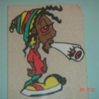 Bob Marley au sable color