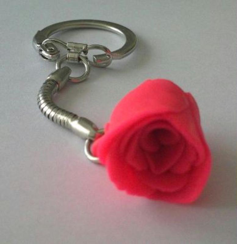 Jolie rose en p te fimo pour porte cl s cr ations bijoux - Porte cle en pate fimo ...