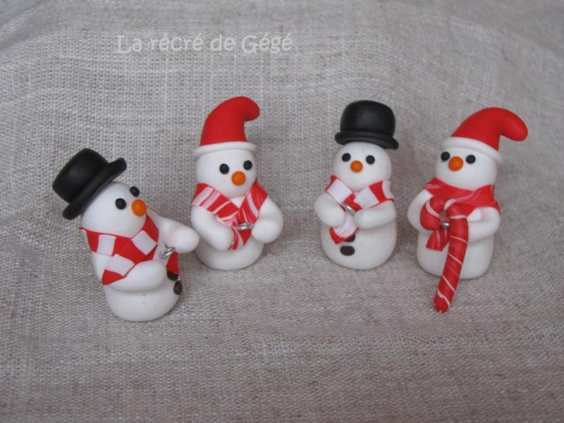Bonhommes de neige en p te fimo cr ations d coration de f tes de lar cr deg g n 44518 vue - Decoration noel pate fimo ...