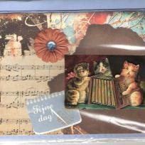 Carte 3d - Chats musiciens.