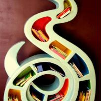 Grande Bibliothque Serpent en carton pour chambre d'enfant