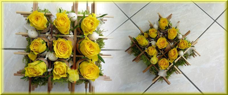 compositions florales pour p ques cr ations art floral de anniegau35 n 45360 vue 6858 fois. Black Bedroom Furniture Sets. Home Design Ideas
