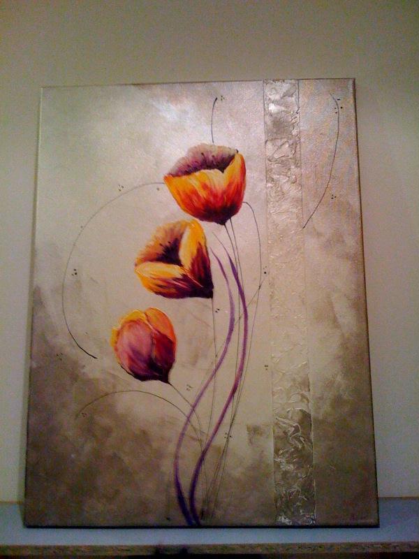 Cr ation tableau peinture acrylique cr ations peinture multi supports de le - Peinture acrylique tableau ...