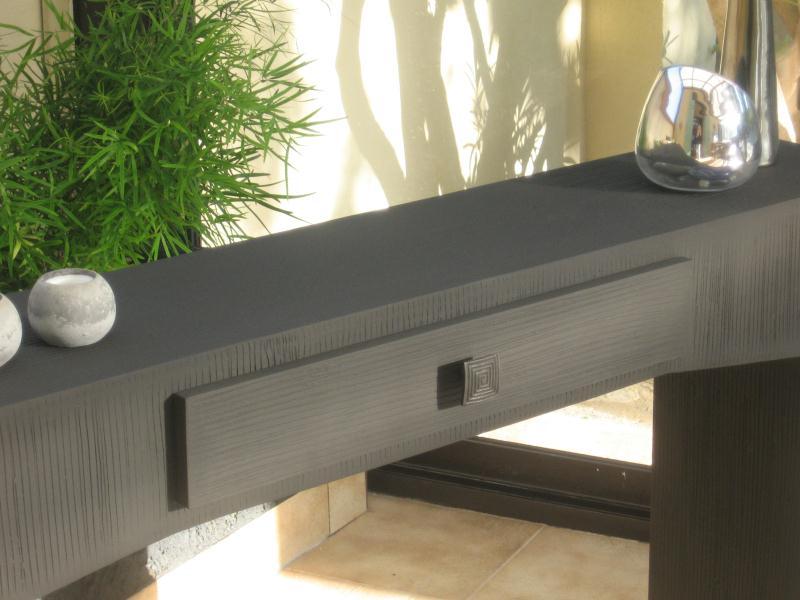 Cr ation meuble en carton table console design cr ations meuble en carton - Meuble en carton design ...