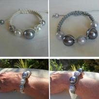 Cration bracelets Shamballa - en cuir et perles vnitiennes