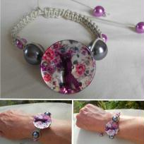 Cration bracelet romantique - macram