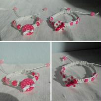 Cration shamballa - boutons et perles pour petites filles