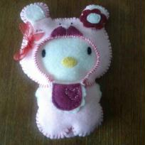 Cration doudou feutrine - hello kitty