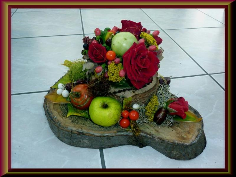 cr ation art floral support en bois d 39 automne cr ations art floral de anniegau35 n 47178. Black Bedroom Furniture Sets. Home Design Ideas
