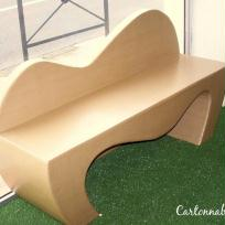 Cration banc en carton, couleur carton - Cration Cartonnable