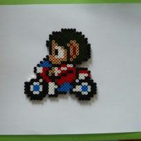 Pixel Art, Bead Sprites Hama Alex kid