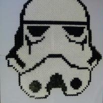 Pixel Art, Bead Sprites  Masque de Stormtrooper
