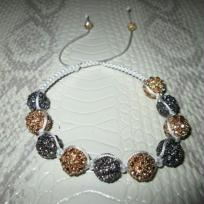 Fabrication bracelet Shamballa topaze et hmatite