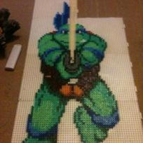 Cration perles Hama : pixel art bead sprites leonardo